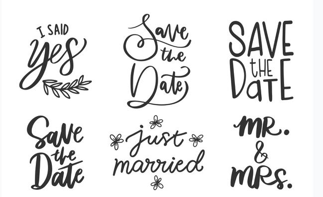 modelos de letras para convite de casamento